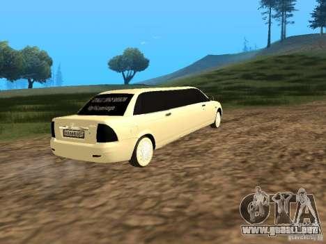 LADA Priora 2170 Limousine para GTA San Andreas left