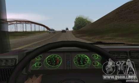 Vaz 2107 Stock v.2 para GTA San Andreas vista hacia atrás