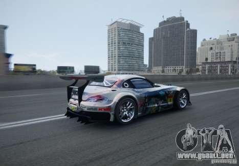 BMW Z4 GT3 2010 V.2.0 para GTA 4 vista hacia atrás