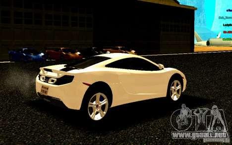 McLaren MP4-12C 2011 para la visión correcta GTA San Andreas