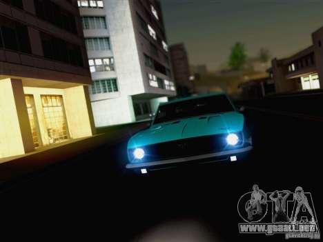 New Car Lights Effect para GTA San Andreas sucesivamente de pantalla