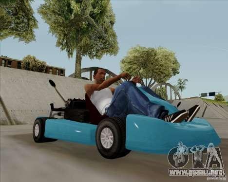 Kart para GTA San Andreas vista posterior izquierda