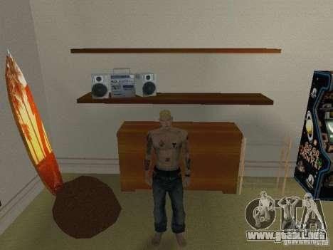 Piel Eminema para GTA San Andreas segunda pantalla