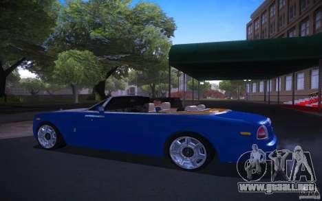 Rolls-Royce Phantom Drophead Coupe para GTA San Andreas left