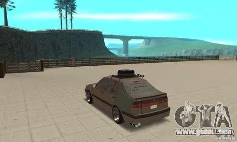 Saab 9000 GT Drifting 1998 para GTA San Andreas vista posterior izquierda