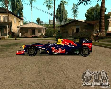 Red Bull RB8 F1 2012 para GTA San Andreas left