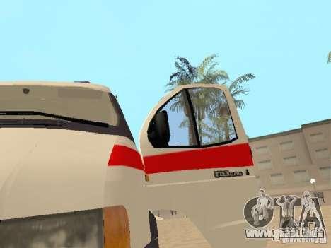 Ambulancia gacela 2705 para GTA San Andreas vista hacia atrás