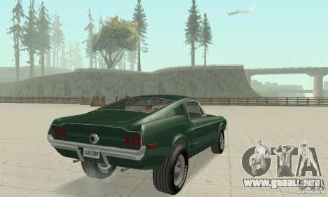 Ford Mustang Bullitt 1968 v.2 para GTA San Andreas left