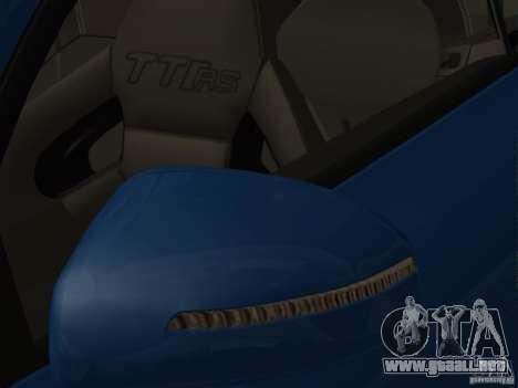 Audi TT RS para vista inferior GTA San Andreas