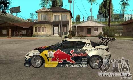 Mazda RX8 NFS Team Mad Mike para GTA San Andreas left