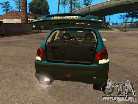 Peugeot 206 Police para GTA San Andreas vista hacia atrás