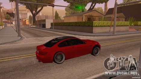 BMW M3 E92 Slammed para la visión correcta GTA San Andreas