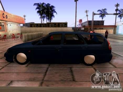 Lada Priora sedán para la visión correcta GTA San Andreas