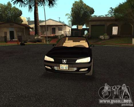Peugeot 406 para visión interna GTA San Andreas