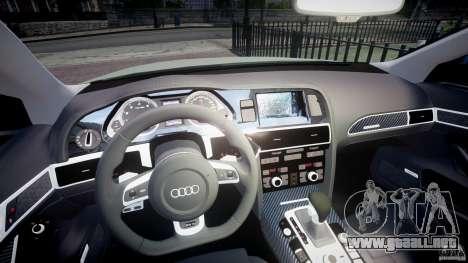 Audi RS6 2010 para GTA 4 vista hacia atrás