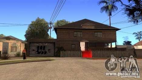 Nueva casa CJ (Cj nueva casa GLC prod v1.1) para GTA San Andreas tercera pantalla