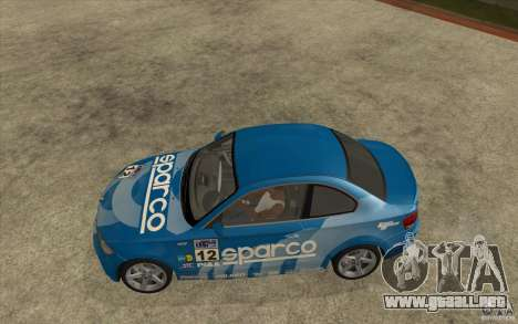 BMW 135i Coupe para vista lateral GTA San Andreas