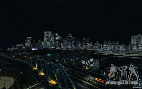 Pantallas de menú y arranque de Liberty City en  para GTA San Andreas