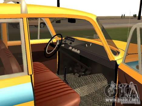 IZH 412 GAI para la visión correcta GTA San Andreas