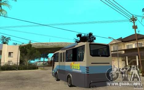 Hino Evo C para GTA San Andreas vista posterior izquierda