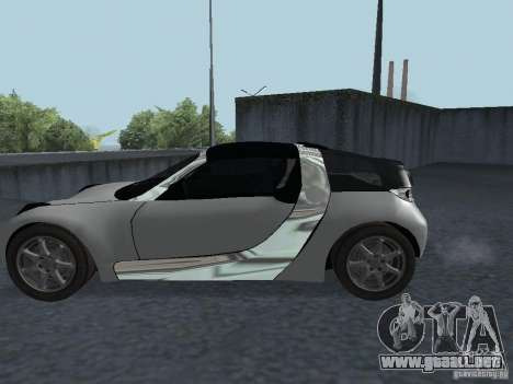 Smart Roadster Coupe para la visión correcta GTA San Andreas