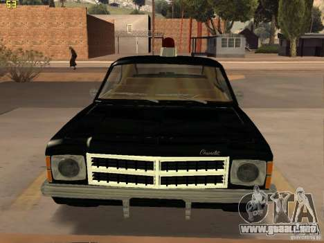Chevrolet Opala Police para GTA San Andreas vista posterior izquierda