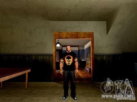 Camiseta negra con una calavera para GTA San Andreas