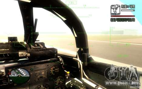 F 86 Sabre para visión interna GTA San Andreas