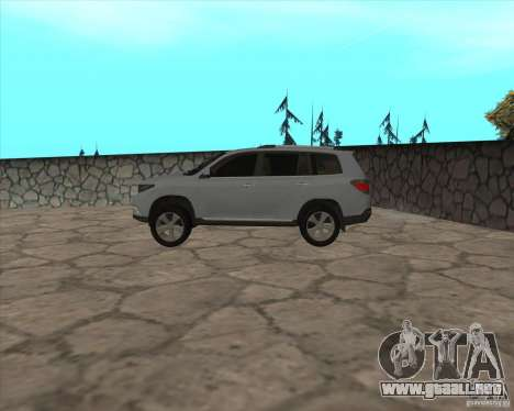 Toyota Highlander para GTA San Andreas left