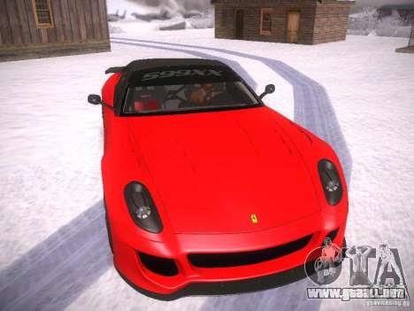 Ferrari 599XX para GTA San Andreas left