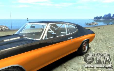 Chevrolet Chevelle SS 1970 para GTA 4 vista superior