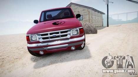 Ford Ranger para GTA 4 vista hacia atrás