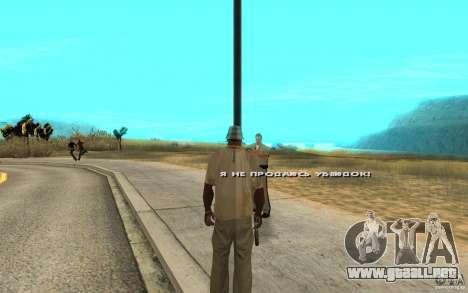 El soborno para GTA San Andreas segunda pantalla