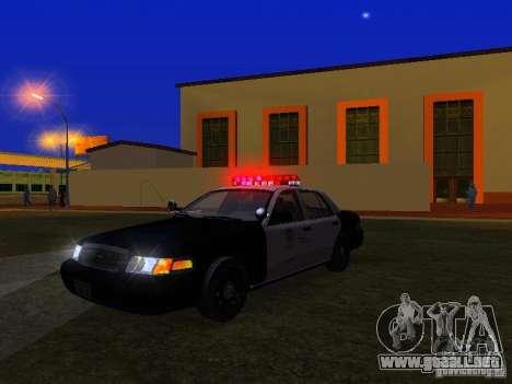 Ford Crown Victoria San Andreas State Patrol para vista inferior GTA San Andreas