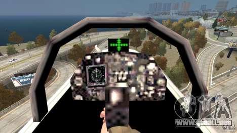 Liberty City Air Force Jet para GTA 4 vista hacia atrás