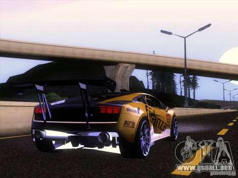 Lamborghini Gallardo Racing Street para GTA San Andreas vista hacia atrás