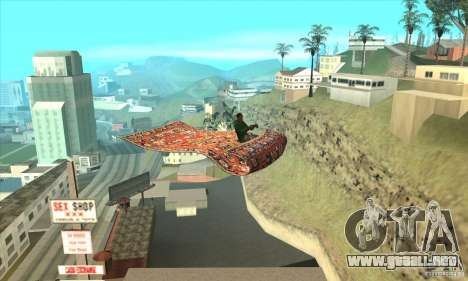 Flying Carpet v.1.1 para GTA San Andreas vista hacia atrás