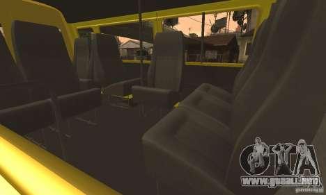Minibús Gazelle 32213 Novosibirsk para la vista superior GTA San Andreas