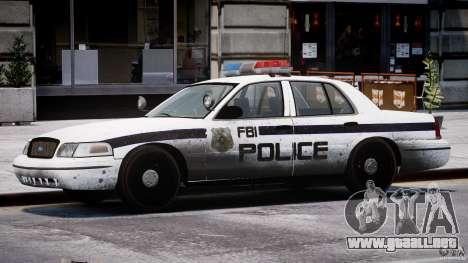 Ford Crown Victoria FBI Police 2003 para GTA 4 interior