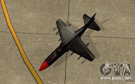 Black Hydra v2.0 para GTA San Andreas vista hacia atrás