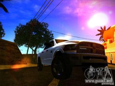 Dodge Ram Heavy Duty 2500 para GTA San Andreas vista posterior izquierda