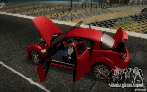Mazda RX-8 R3 2011 para visión interna GTA San Andreas