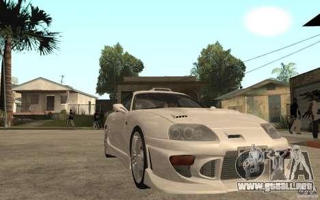 Toyota Supra Tunable para GTA San Andreas vista hacia atrás