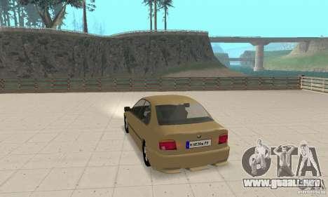 Bmw 528i para GTA San Andreas vista posterior izquierda