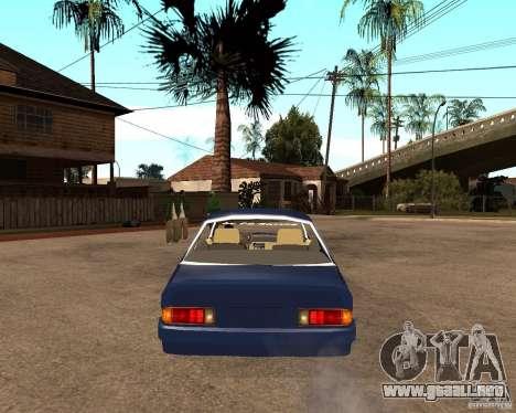 Opel Manta para GTA San Andreas vista posterior izquierda