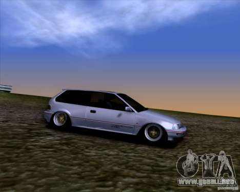 Honda Civic EF9 Hatch Stock para GTA San Andreas vista hacia atrás