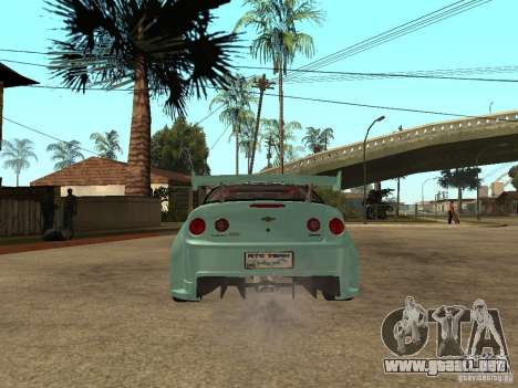 Chevrolet Cobalt SS NFS Shift Tuning para GTA San Andreas vista posterior izquierda