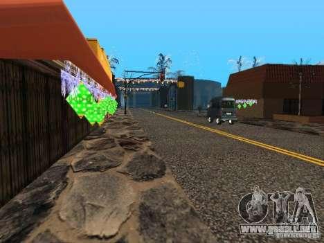 Víspera de año nuevo en la calle Grove para GTA San Andreas sucesivamente de pantalla