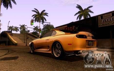 Toyota Supra Top Secret para GTA San Andreas vista posterior izquierda