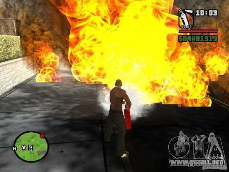 Nuevo extintor para GTA San Andreas segunda pantalla